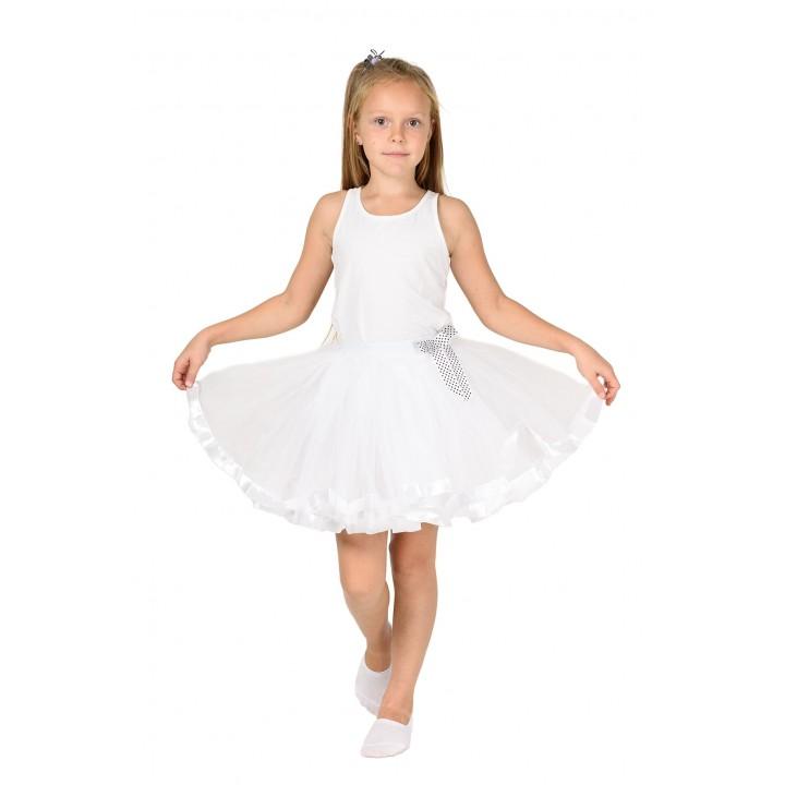 Фатиновая юбка белого цвета