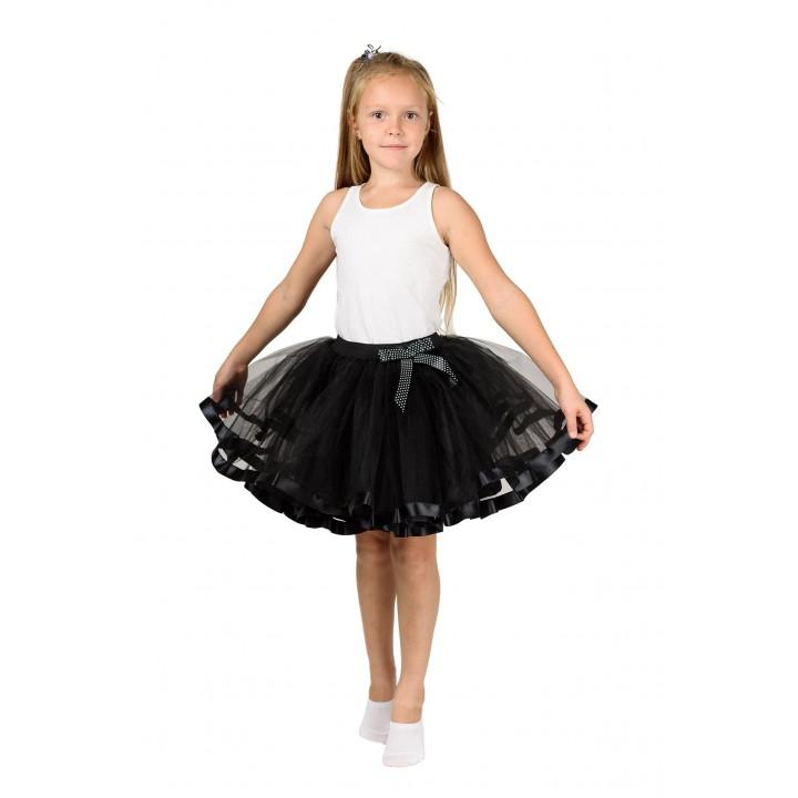 Фатиновая юбка черного цвета