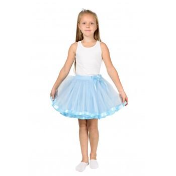 Фатиновая юбка голубая