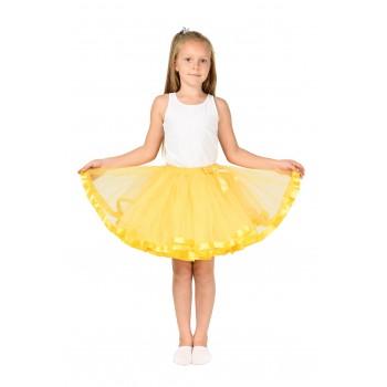 Фатиновая юбка желтая