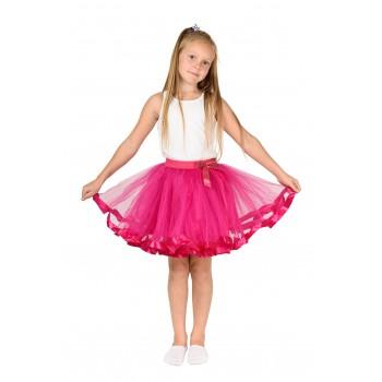 Фатиновая юбка малиновая