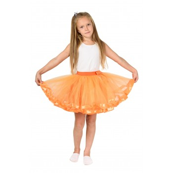 Фатиновая юбка оранжевая