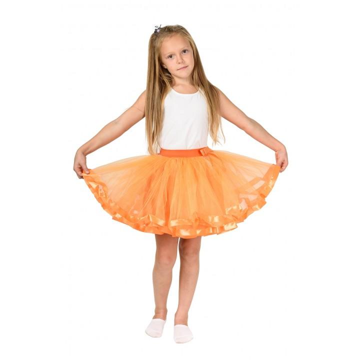 Фатиновая юбка оранжевого цвета