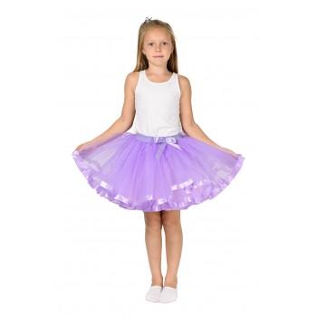 Фатиновая юбка сиреневая