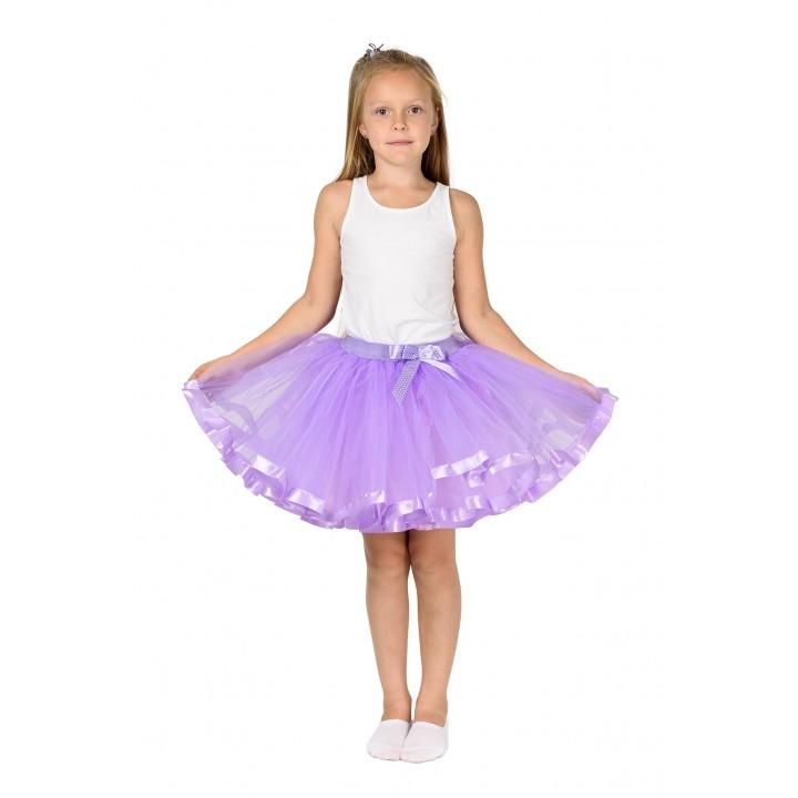 Фатиновая юбка сиреневого цвета