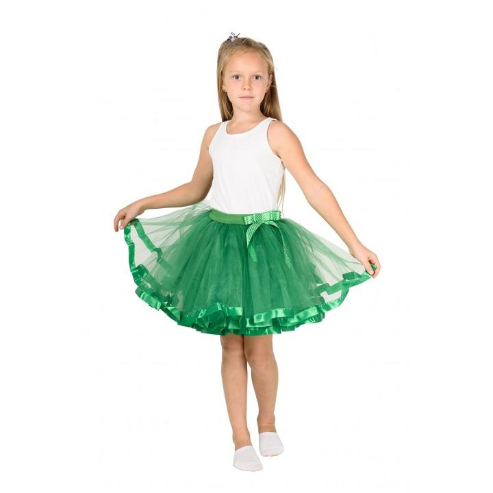 Фатиновая юбка зеленого цвета